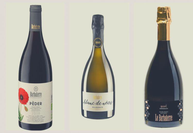 I tre vini a base Pinot Nero degustati