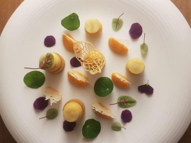 Parmigiano Reggiano 40 mesi, zucca e polenta, del ristorante Vous le Vous in Belgio