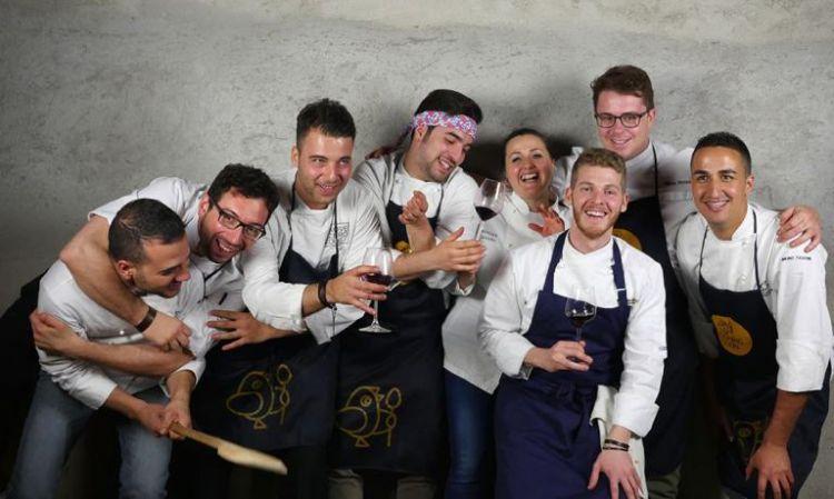 Biafora (secondo da sinistra) con i colleghi calabresi di Cooking Soon