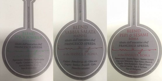 Le etichette di tre dei quattro Blend speciali che