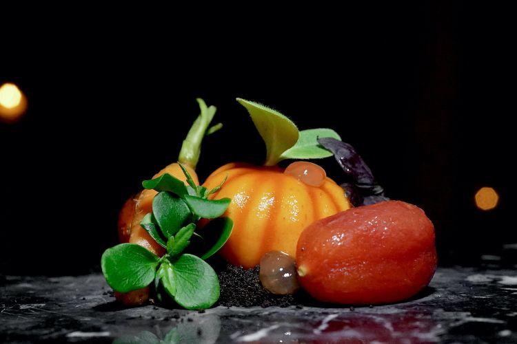 Orto: tre tipologie differenti di pomodori, poi carota, terra di malto d'orzo, piselli