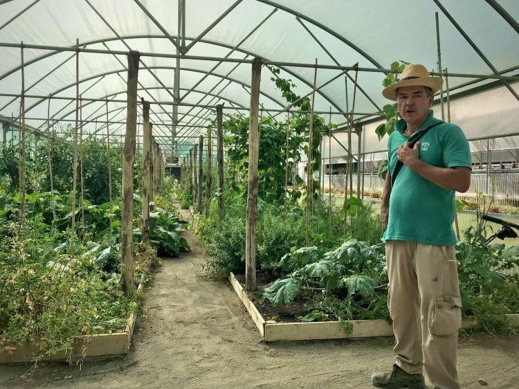 """""""Giustino"""", ossia Mazic Izudin, responsabile dell'orto e delle erbe aromatiche del Borgo Santo Pietro (foto Tanio Liotta)"""
