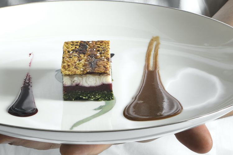 Layers of Duck filled with Eel. Photo Paolo Terzi