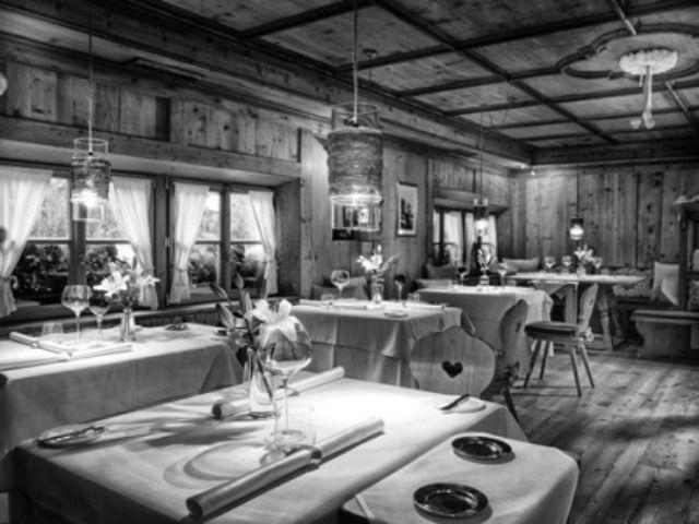 La sala del ristorante Stube Hermitage