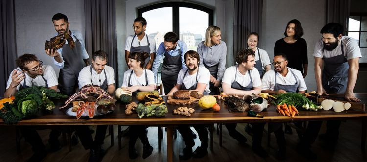The staff atNoma, in a last supper version