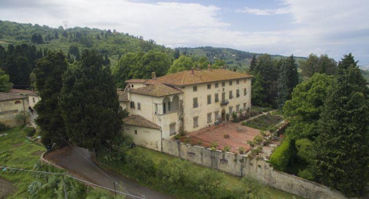 Una veduta aerea della tenuta