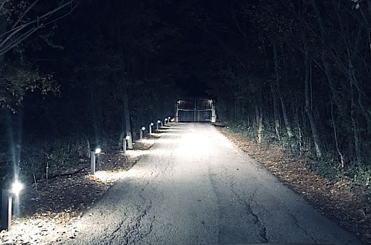 Arriving at night at Casadonna in Castel di Sangro (L'Aquila) on the 30th October