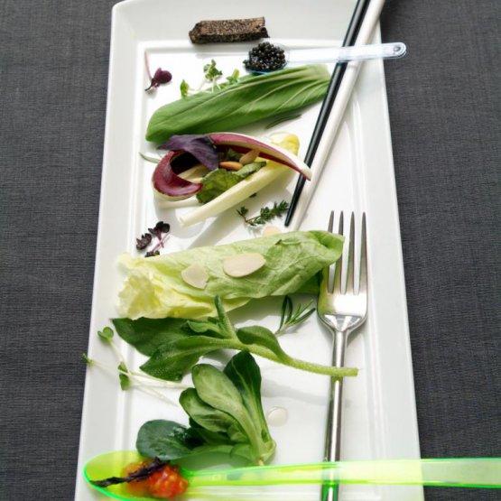 Tantissimi i piatti pensati da Scabin per il Combal.zero e presentati a Identità Golose, negli anni. Eccone alcuni, le foto sono di Brambilla-Serrani. Iniziamo con laCheck salad, qui la ricetta
