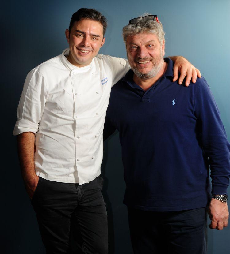 Lo chef Graziano Caccioppoli e il patron Danilo Scala