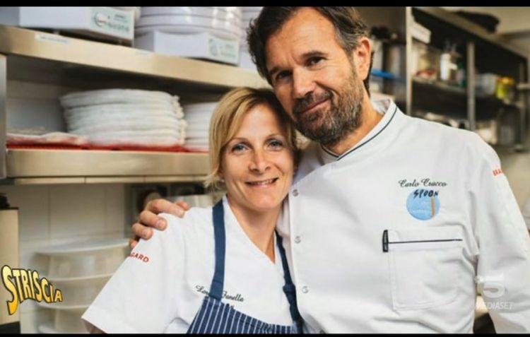 Loretta Fanella con Cralo Cracco che la volle per il suo primo ristorante a Milano nel 2000