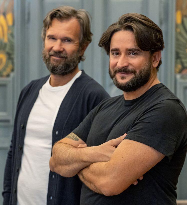Carlo Cracco e Marco Pedron