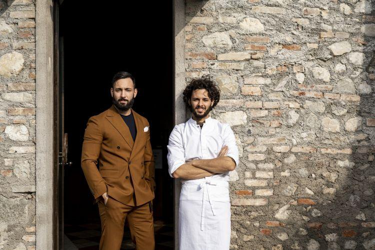 I fratelli Marco e Andrea Leali, maître e sommelier e chef del ristorante