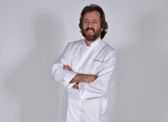 Cristiano Tomei, chef de L'Imbuto di Lucca, nuovo ingresso al Bauer Palazzo (foto Simone Comi)