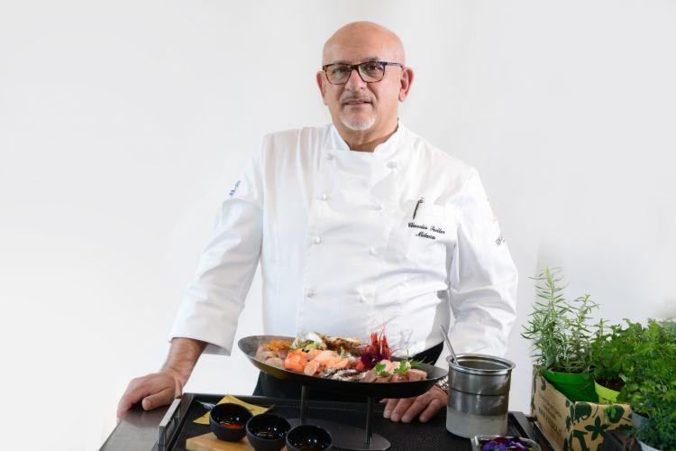 Lo chef Claudio Sadler, dell'omonimo ristorante milanese (foto di Paolo Picciotto)