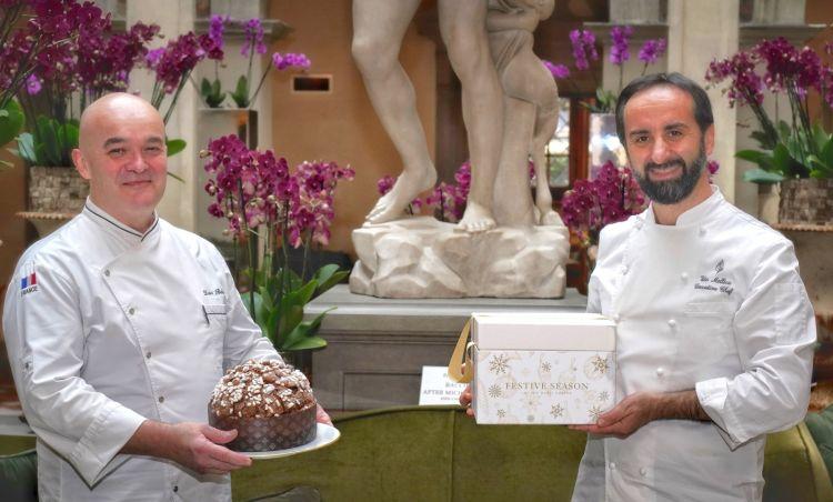 David Bedu e Vito Mollica col loro panettone speciale