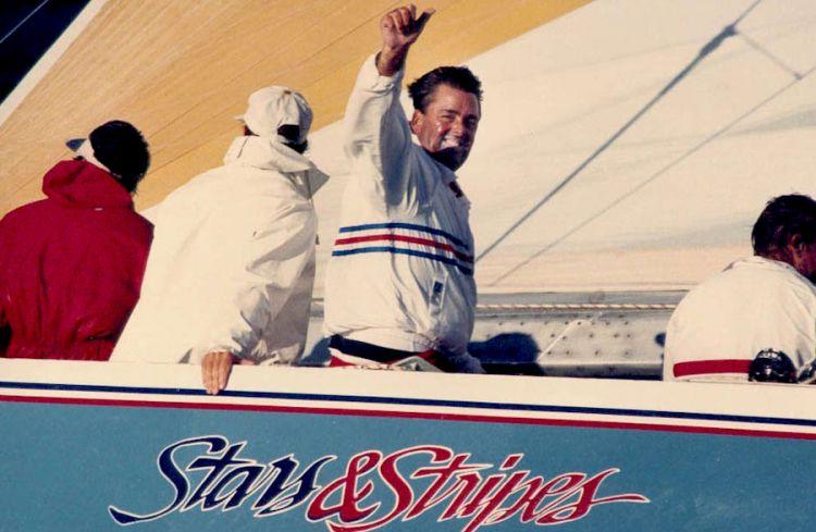 Dennis Conner, californiano, classe 1942, vincitore con Stars&Stripes della Coppa America 1987 a Perth - Fremantle nell'Australia dell'Ovest