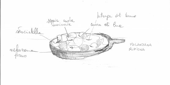 A sketch of one of the recipes Diego Rossi will pr
