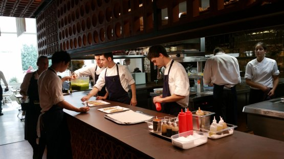The open view kitchen at Disfrutar