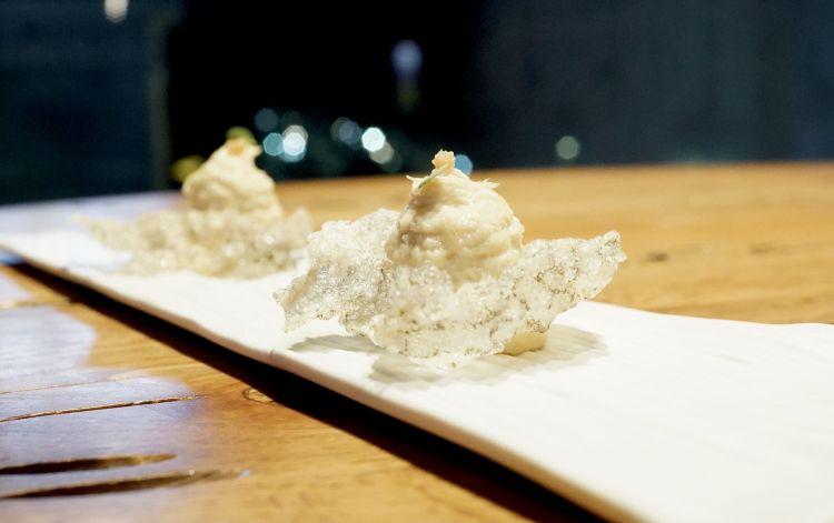 Pelle di baccalà, limone fermentato