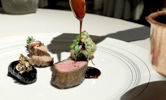 Lamb ribs with savoury, a dish fromEnrico Bartolini. The lamb comes from Basilicata, andVarvara