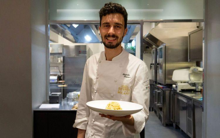 Edoardo Traverso la sua Aglio, olio e peperoncino al profumo di Parmigiano Reggiano