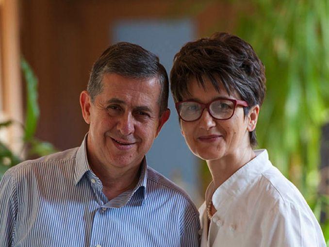 La chef Elide Molloassieme aEnrico Cordero, maître del ristorante e marito della chef
