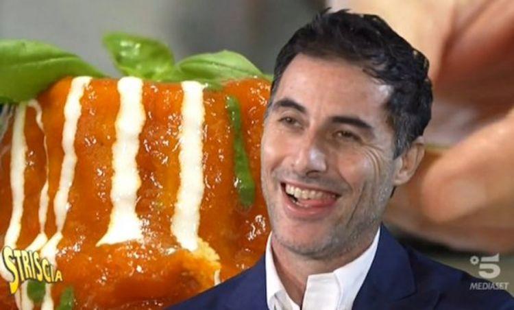 Ernesto Iaccarino, protagonista della prima puntata della rubrica Capolavori italiani in cucina, il 3 dicembre 2019 a Striscia la notizia