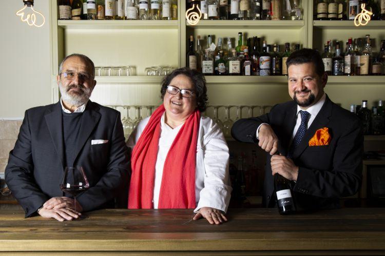 La chef Valeria Piccini e la sua famiglia
