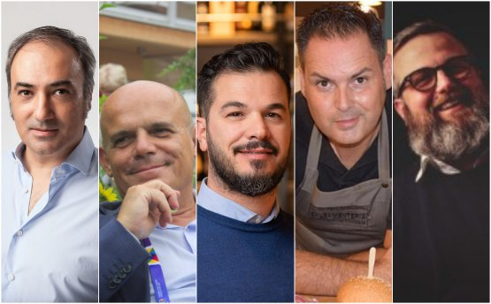 Da sinistra: PietroPitzalis, Gianfranco Massa, Giuseppe Carrus, Michele Cabras, Francesco Fadda