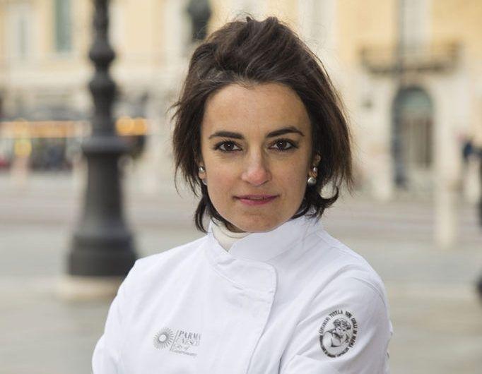 Francesca Toma, cuoca dellaTrattoria Vecchio Borgodi Borgo Val di Taro (Parma)
