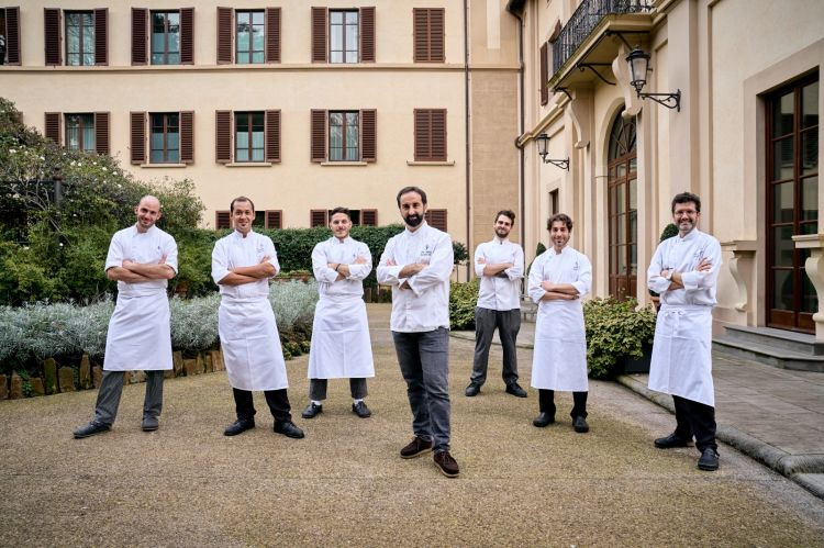 In the middle,Vito Mollica, executive chef at the Four Seasons in Florence