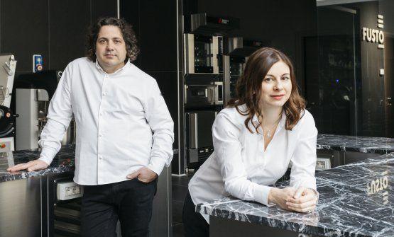 Gianluca Fusto e Linda Massignan, della pasticceria Fusto Milano. Sono compagni nel lavoro e nella vita