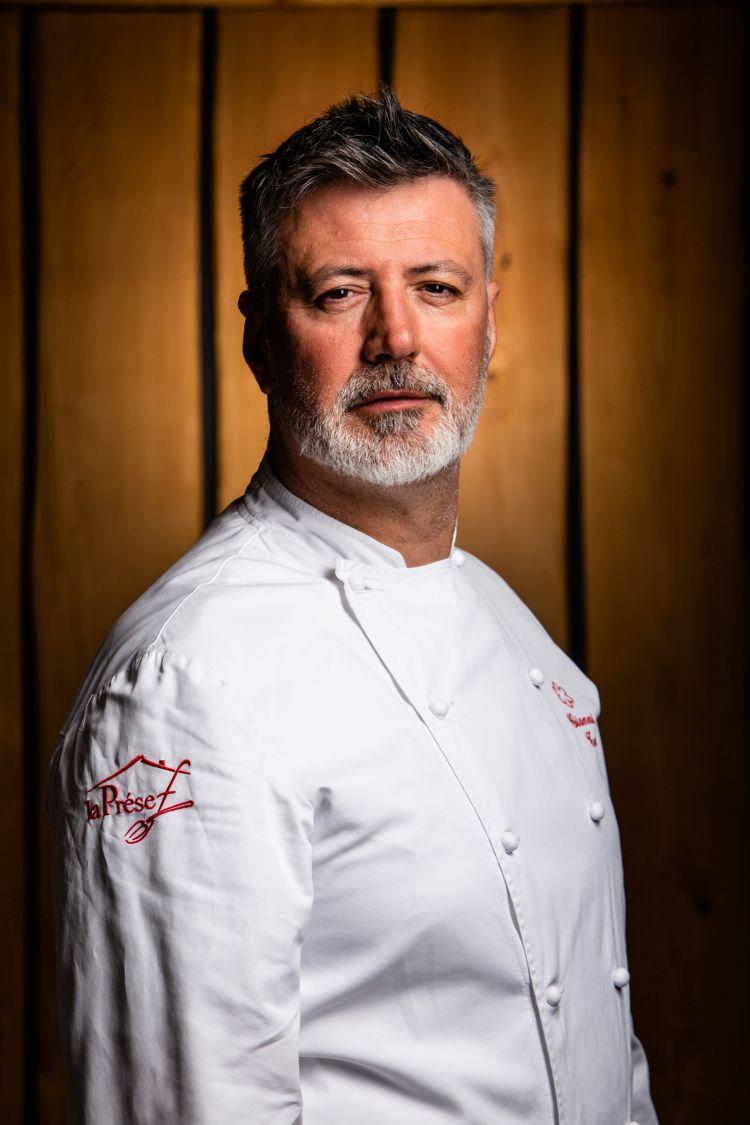 Lo chef Gianni Tarabini de La Presef, relatore di Identità Milano 2021 domenica 26 settembre insieme allo chef Cesare Battisti del Ratanà