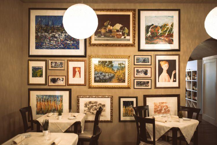 La sala del ristorante I Sette Consoli