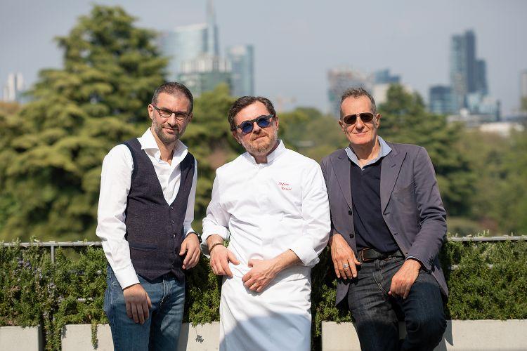 I tre soci: da sinistra Marco Giorgi, Stefano Cerveni e Ugo Fava