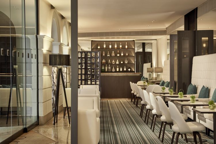 Il bar del Como The Halkin, Londra