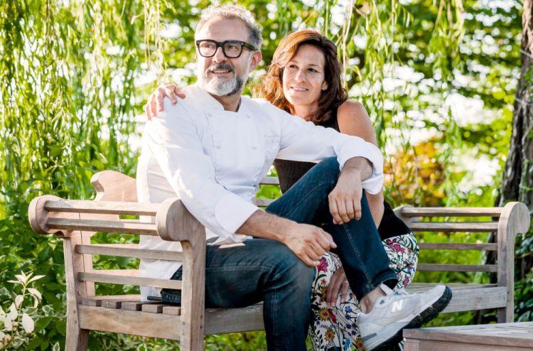 Massimo Bottura con la moglie Lara Gilmore