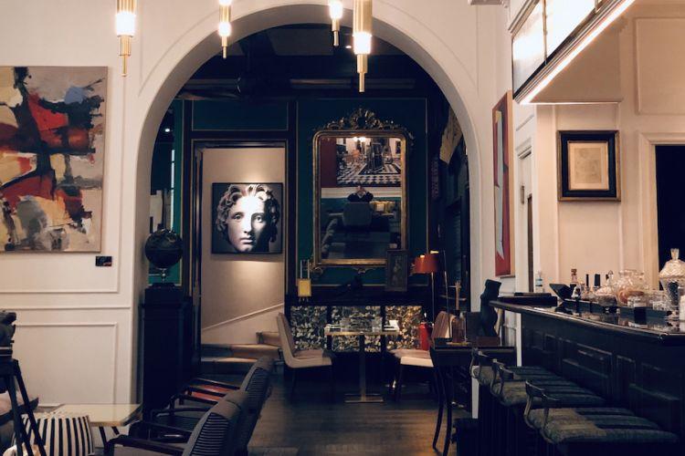 Una sala dell'hotel Vilòn a Roma