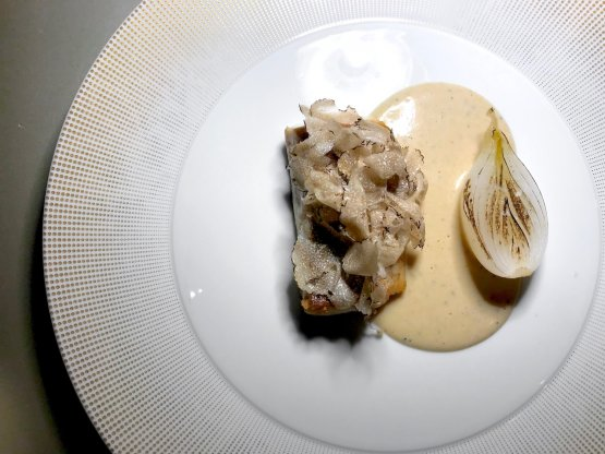 Salmerino, burro bianco e tartufo estivo