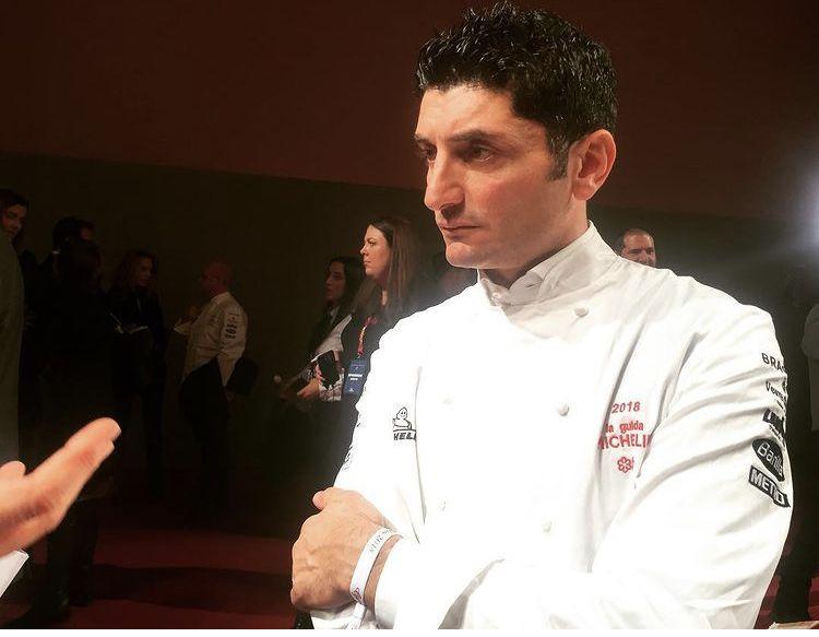Andrea Aprea, il 16 novembre 2017 a Parma, giorno e luogodella seconda stella assegnata al ristoranteVun-Andrea Aprea dell'hotel Park Hyatt di Milano