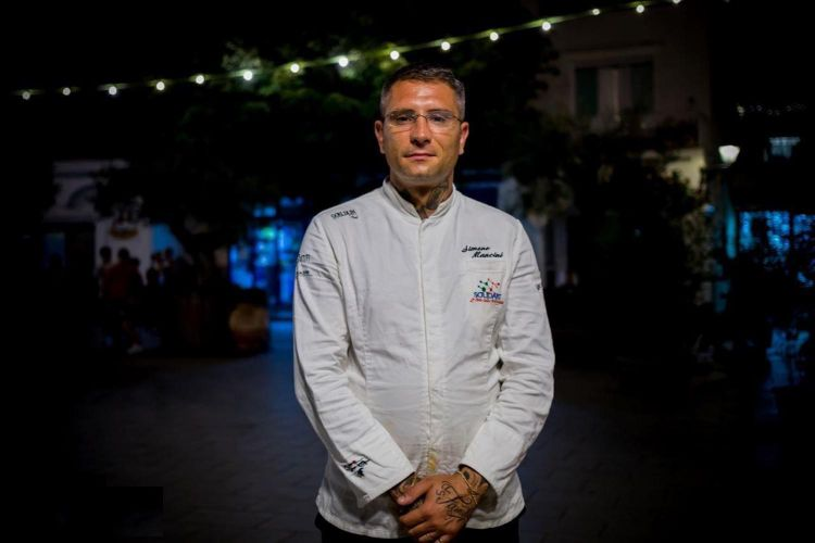 Lo chef Simone Mancini