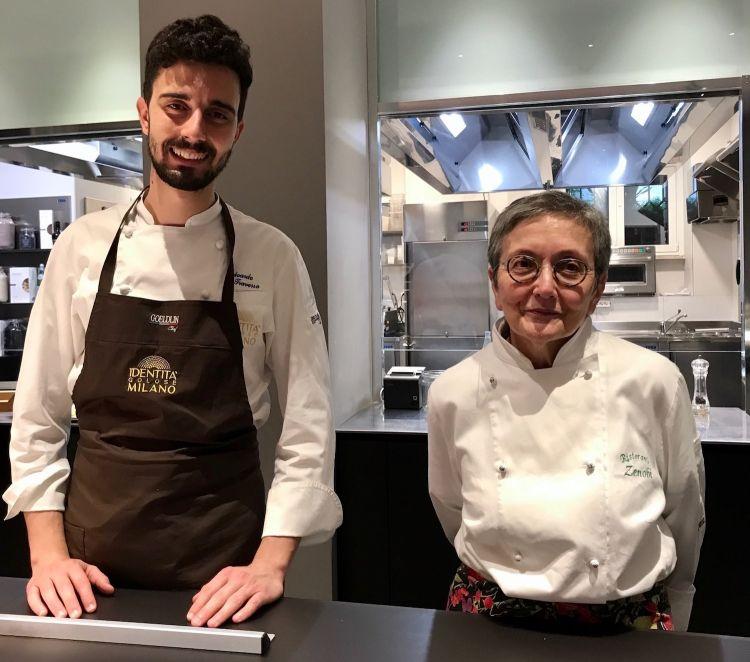La Corradetti con Edoardo Traverso, resident chef di Identità Golose Milano