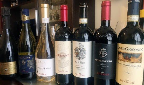 I vini assaggiati durante la degustazione