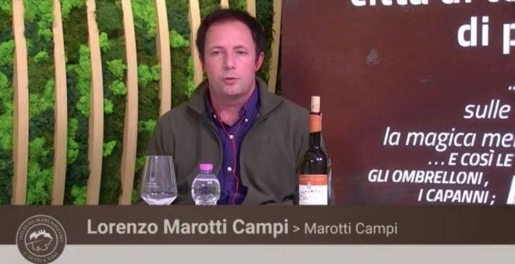 Lorenzo Marotti Campi dellaMarotti Campiha presentato un vino macerato 5 mesi sulle bucce
