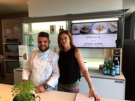 Antonio Colombo with Eleonora Cozzella