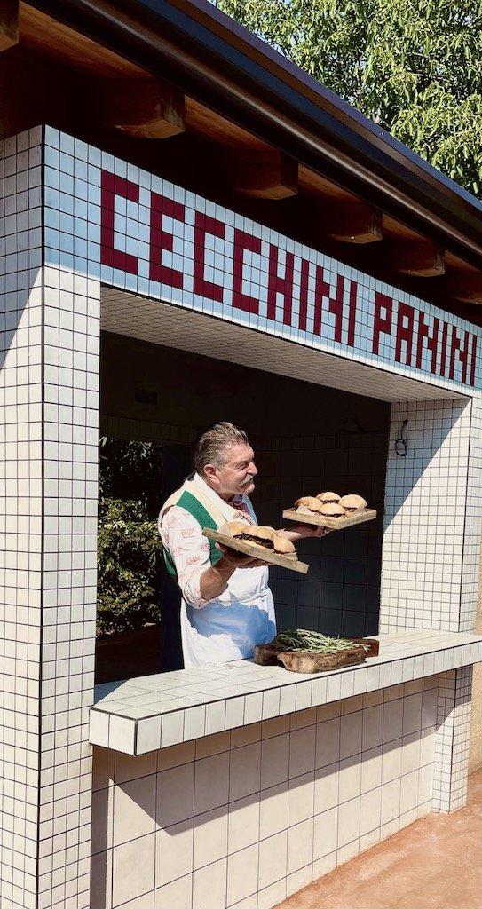 Dario Cecchini presenta le sue specialità nel nuovo locale di Erbusco