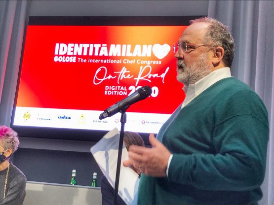 Paolo Marchiduring his speech