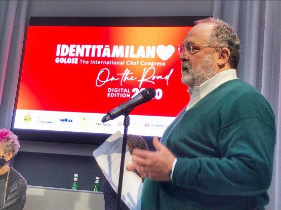 Paolo Marchi durante il suo intervento