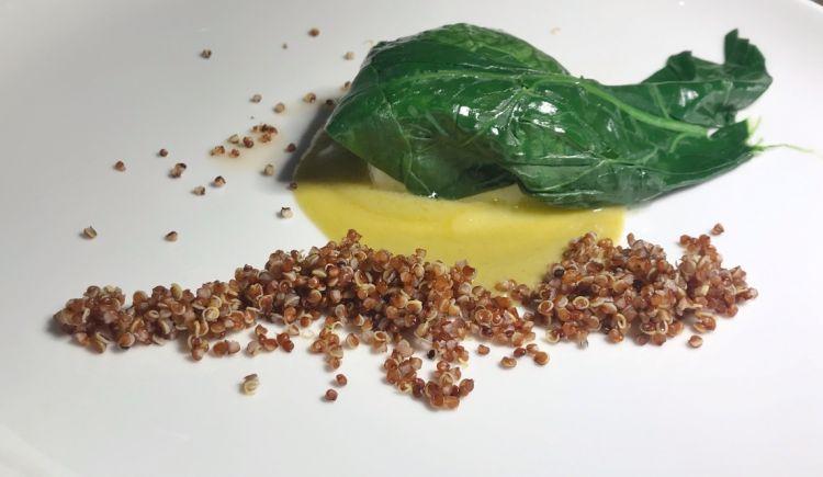 2014 Ermo colle Baccalà, spinaci, quinoa agrodolce e salsa di friggiteli