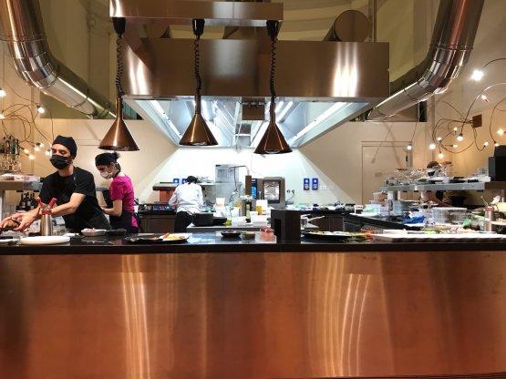 La cucina a vista